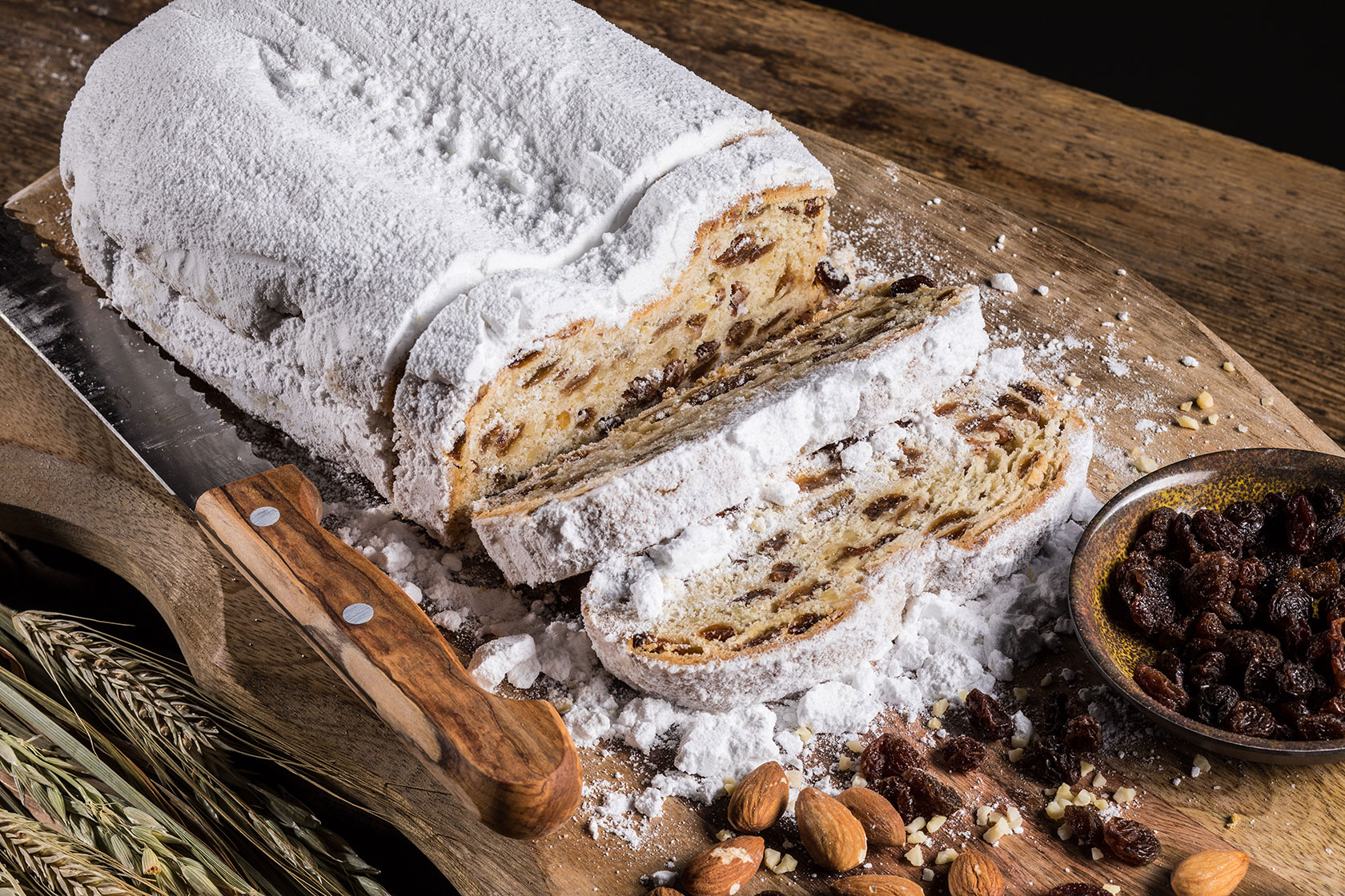 Butterrosinenstollen